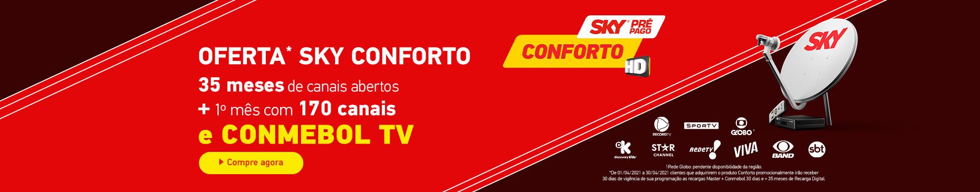 Curta o Kit Conforto com 2 anos de programação inclusa.